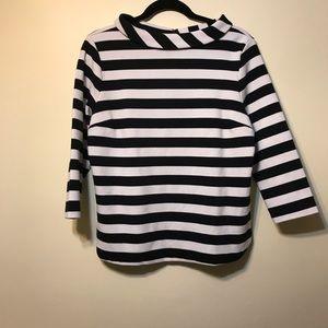 Boatneck stripe top